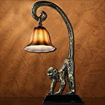 Modeen Countryside Resin Monkey Table Lamp Creative Individual Living Room Bedroom Desk Lamps Study Restaurant Dining Room...
