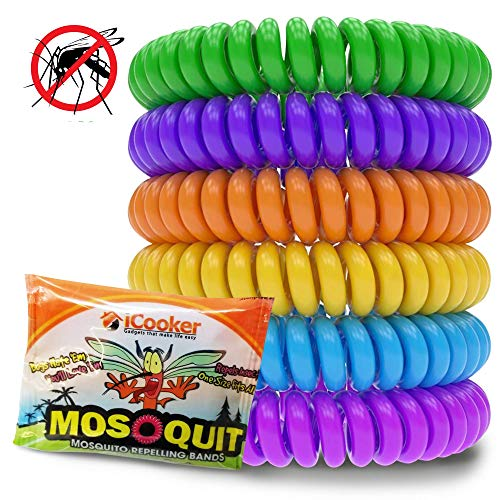 12 Pack Mosquito Repellent Bracelet Band - [INDIVIDUALLY WRAPPED]...