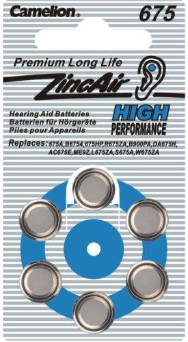 675 1er Blister Camelion Zinc Air 1.4V Hörgeräte Batterie A675
