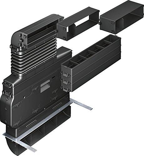 Siemens hz381501 Zubehör für Dunstabzugshaube, Zubehör für Kamin (Dunstabzugshaube, Abluftset, schwarz, 6,9 kg; Maße: 590 mm x 765 mm x 420 mm)