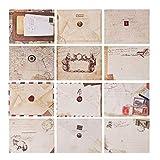 Envelope Vintage, 120 Pcs Mini Sobres Kraft, Sobres de Papel Kraft, Sobres Mini Kraft, Tarjeta Vintage Sobre Mini para Navidad/Acción de gracias/Boda/Fiesta de cumpleaños/Nota/Saludo, etc.