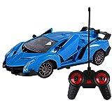 BAOZUPO RC Car Radio Control Remoto Coche 1/14 Modelo de Escala Coche para niños, Auto Open & Close (Color : Azul)
