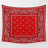 Tapestry Bandana Red Southwestern Boho Wall Cover Beach Towel Blanket Picnic Yoga Mat Tapestries Home Decoration-130cm×150cm