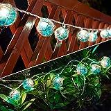 Nautical String Lights, Beach Theme Float Lights Set of 10 Blue G50 Plastic Ball String Lights for Aesthetic Room Decor,Fishing Fairy Lights Adding Flare of Coast Room Decor for Teen Girls