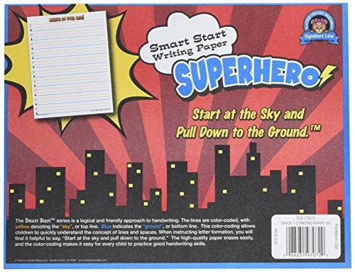Teacher Created Resources Superhero Smart Start Writing Paper Grades 1-2. 100 Sheets (77072)