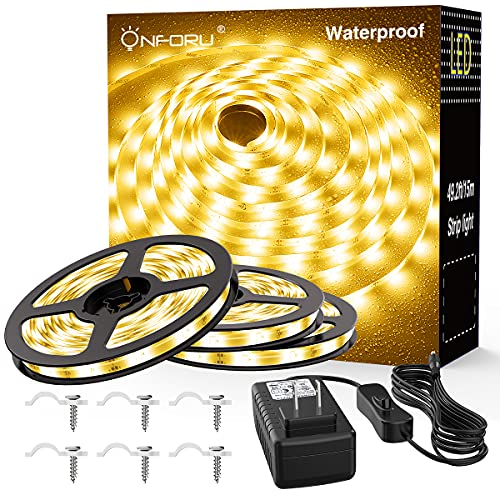 Onforu 49.2ft Waterproof LED Strip Lights Only $12.99 (Retail $27.99)