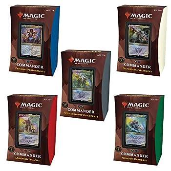 Magic The Gathering Strixhaven Commander Deck Bundle – Includes 1 Silverquill Statement + 1 Prismari Performance + 1 Witherbloom Witchcraft + 1 Lorehold Legacies + 1 Quantum Quandrix