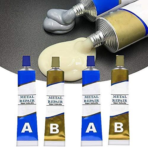 Magic Metal Mending Agent,Magic Welding Glue 2 Bottles, Industrial Heat Resistance Cold Weld Metal Repair Paste A, Permanent Metal Repair Paste Set 100g, Metal Glue Permanent Water-Proof (2set)