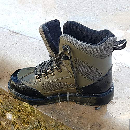 8 Fans Men's Fishing Hunting Wading Shoes Anti-Slip Durable Rubber Sole Lightweight Wading Waders Boots (US 11#)