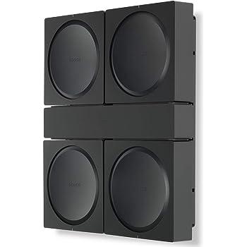 Flexson Wall Mount for 4 Sonos Amps FLXSAWM1021, Black