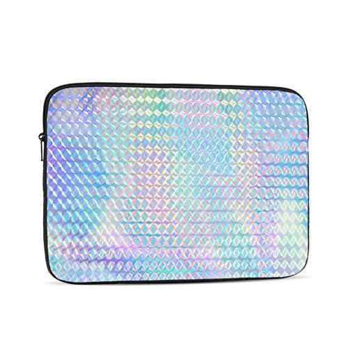 Colorful Rainbow Color Hologram Holográfico 10-17 pulgadas Bolso clásico para computadora Estuche para computadora portátil Estuche de transporte Estuche para Chromebook Estuche para computadora portá