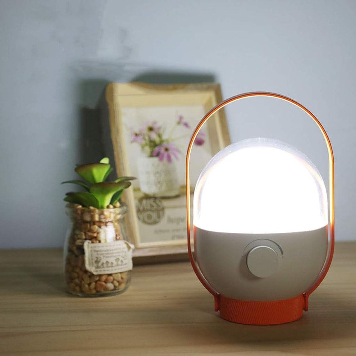 銀誘う眼LEDナイトライト LEDナイトライト充電式ぶら下げポータブルホームベッドルームベッドサイドアイテーブルランプ LEDナイトライト (Color : Orange)