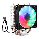 Refroidisseur de processeur 2 tubes ventilateur de refroidissement du processeur radiateur radiateur...