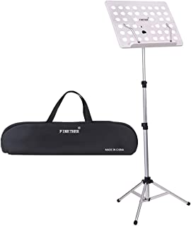 Finether Sheet Music Stand Musical Score Stand Folded Lightweight ABS Aluminum Alloy 53cm -140cm Height Adjustable Stand 4...