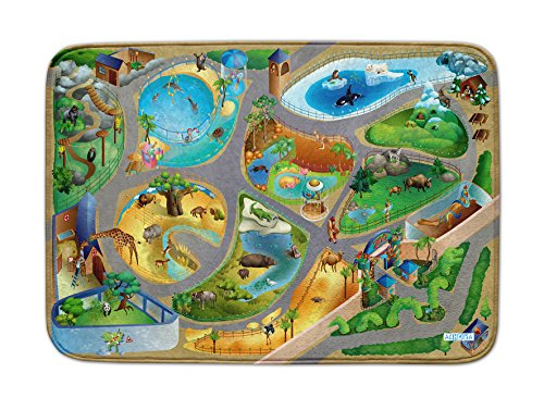 Spielteppich Ultrasoft - Rutschfest 100 x 150 cm (Zoo)