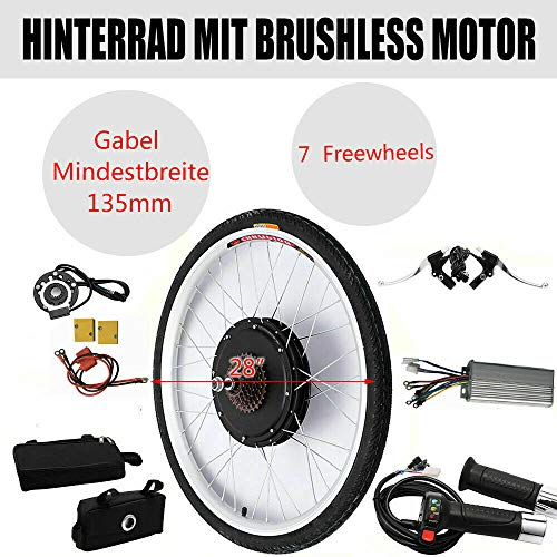 36V 250W 28' E-Bike Conversion Kit,E-Bike Hinterrad Umbausatz