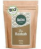 polvere di Baobab Bio (250g) - albero farmacista - fibra, potassio, ferro, acidi grassi essenziali - riempito in Germania (DE-ECO-005)