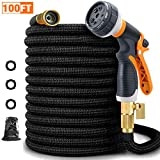 Best flat garden hose - FIVKLEMNZ 100ft Garden Hose, Expandable Leakproof, Durable Lightweight Review