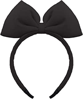 Bow Headband Bowknot Hair Bands Big Bow Halloween Hair Hoop Women Girls Bow Hairband Party Decoration Headdress Cosplay Costume Headwear Handmade Headpiece Makeup Hair Accessories 1 Pack Black