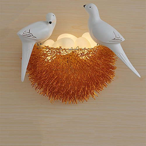 5151BuyWorld Nordic Led Vogel wandlamp wandlamp van aluminium Nest 6 kleuren Art Deco Backlights Creative Glass Eggs