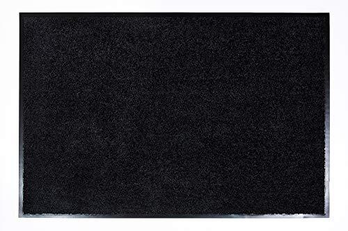ASTRA hochwertige Schmutzfangmatte – waschbare Fußabstreifer – robust – langlebige Fußabtreter – für den Indoorbereich – schwarz – 60 x 90 cm