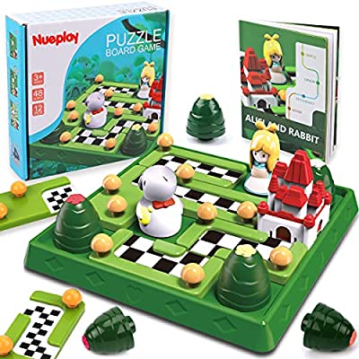 GILOBABY Kids Smart Board Games Skill-Building Brain Logic Game STEM Educational Learning Toys Family Party Travel Games 48 Fun Challenges Puzzles Toys Ages 3 4 5 6+ Years Old Boys Girls Adults Gifts