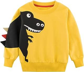 YanHoo Ropara niños Camiseta de Manga Larga Sudaderas De Manga Larga con Estampado Animal de Dibujos Animados para niños, además de Terciopelo Grueso, Camiseta cálida y Camiseta suéter