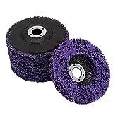 5 unids Poly Strip rueda disco abrasivo Ángel amoladoras herramienta limpia para oxidaci�...