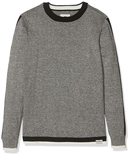 Garcia Kids Jungen H93643 Pullover, Grau (Grey Melee 66), 164 (Herstellergröße: 164/170)