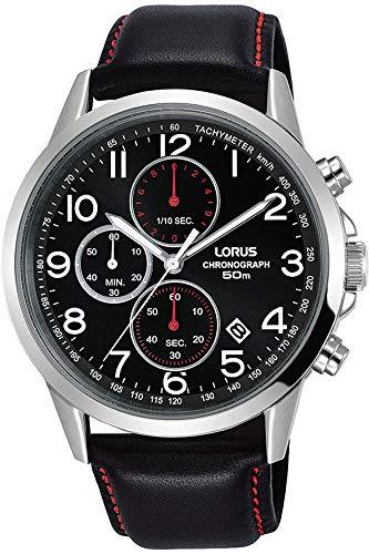 Lorus Herren Chronograph Quarz Uhr mit Leder Armband RM369EX8