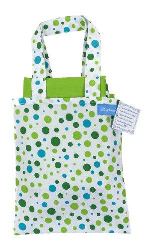 Ringelsuse Picknickdecke Freizeitdecke Picknick Decke Green Dots Grün Weiß Gepunktet mit Tragetasche 102 x 132 cm 100% Baumwolle Fair-Trade