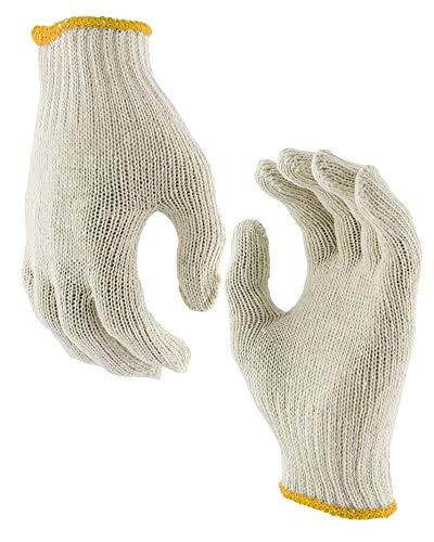 """AMZ Cotton String Knit Gloves Pack of 24 Gloves 10"""" Size for Cooking Grill Barbecue Garden Painter Mechanic Work Industrial Warehouse Women"""
