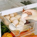 XHHXPY Kühlschrank Schubladen Organizer Ausziehbare Kühlschrank Regal Halter...