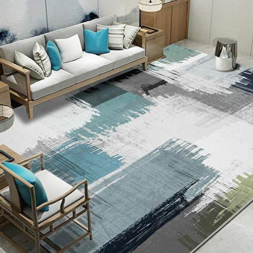 Waterabsorberende, ademende antislipmat Binnentapijt Patroon Vloermat Keukendeken Geometrisch patroon Vloerkleed,Blue,200 * 300cm