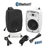 "OSD Audio 5.25"" Bluetooth Outdoor Patio Speaker –Wireless Pair, White -..."