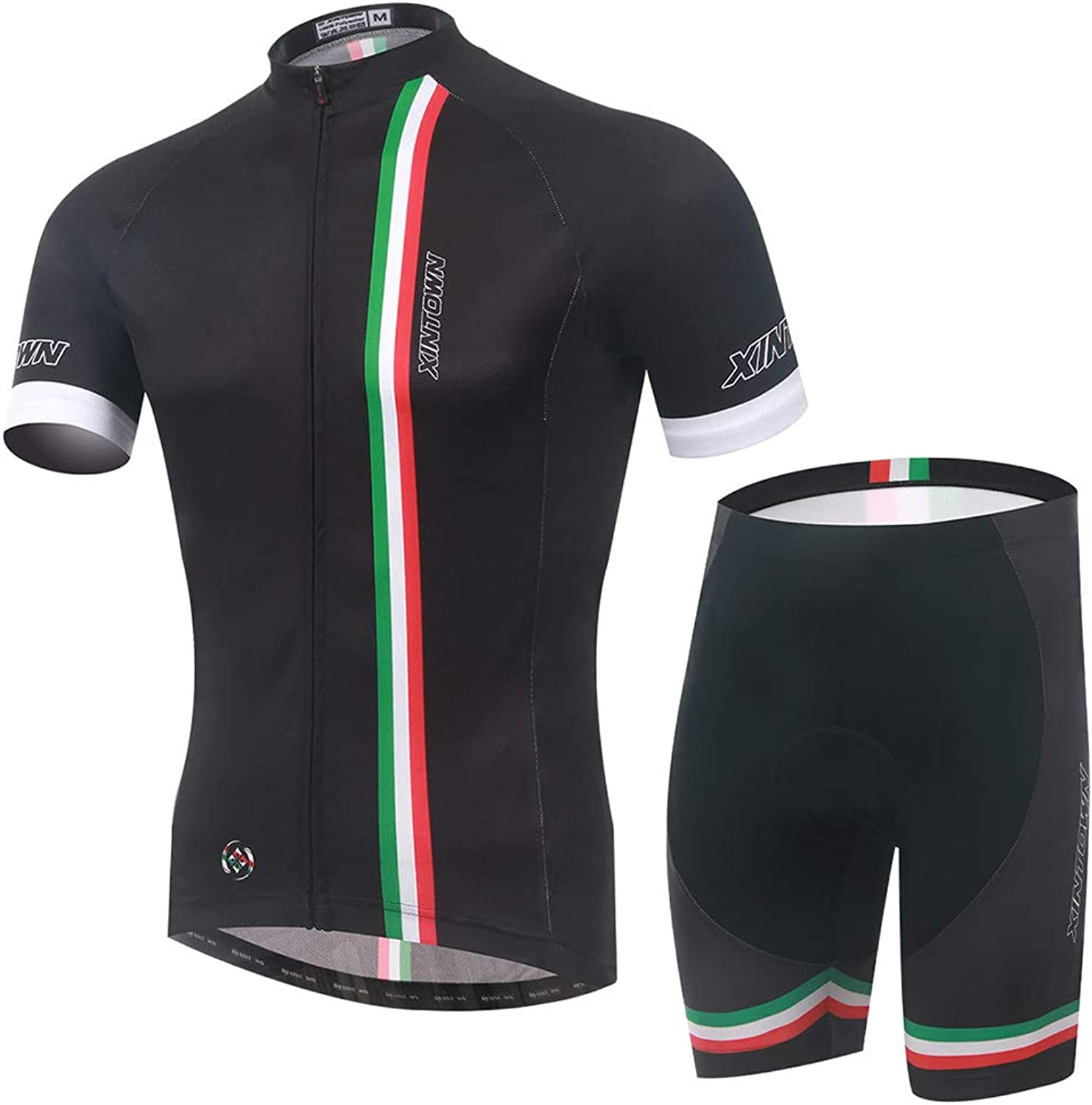Bike Jersey Mens Short Sleeve,Breathable Cycling Suit,Shorts Cycling Clothing,Tights Elasticity Comfortable Quick Dry Road Cycling Jersey