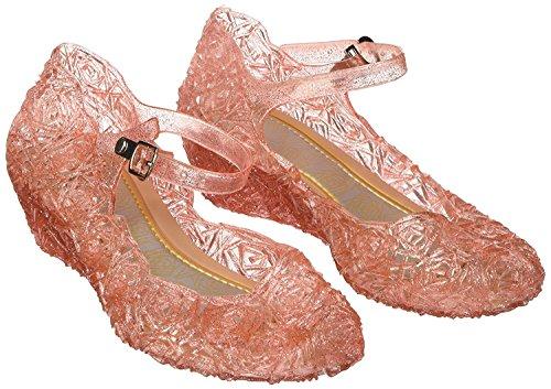 Katara-Zapatos De Princesa Frozen Con Cuña Disfraz Niña, color rosa, EU 28 (Tamaño del fabricante: 30) (ES10)