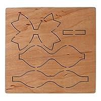 Marschao 弓ちょう結び木製カッティングダイステンシルDIYスクラップブッキングアルバムスタンプクラフト装飾 手動スキルを磨く