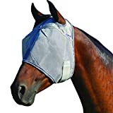Cashel Crusader Standard Fly Mask No Ears or Nose,Gray,Horse