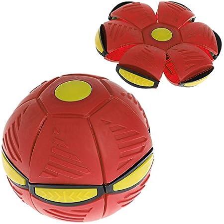 Kofun disco volante UFO con luce LED, palla piatta, giocattolo regalo ideale per compleanno e Natale Red