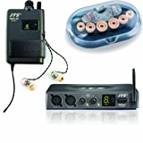 jts siem-2 (trasmettitore siem-2t / ricevitore siem-2r / ear monitor ie-1) - sistema in-ear monitor profess. wireless uhf pll operativita' 60 mt, nero