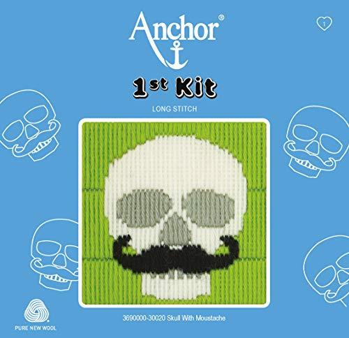 Anchor - Kit para Cuadro de Punto de Cruz, diseño de Calavera, Multicolor