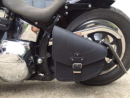 ORLETANOS Odin Black Satteltasche kompatibel mit Harley Davidson schwarz Black von ORLETANOS Leder Neu Schwingentasche Seitentasche Tasche HD Chopper Fatboy Wildstar Dragstar Bikertasche