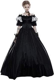 Tsmile Women Renaissance Medieval Dress Retro Off Shoulder Puff Sleeve Gothic Ball Gown Lace Floor Length Dress
