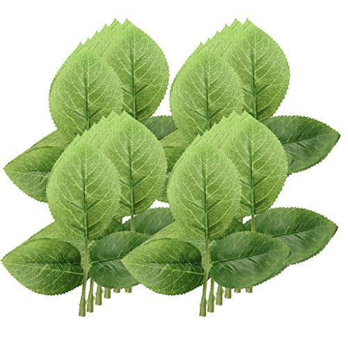 MagiDeal 50pcs Künstliche Blätter Hochzeit Garten Dekoration - Grün, 6 x 4 cm