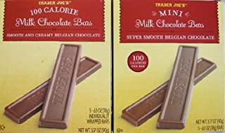 2 Boxes Trader Joe's Mini Milk Chocolate Bars...100 Calories Per Bar