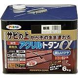 アサヒペン 油性高耐久アクリルトタン用α 塗料 6kg 新茶