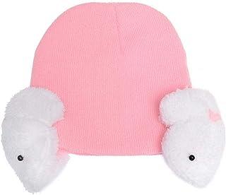 Greetuny Hat with Earmuffs Rabbit Winter Warm Knitted Hat Plus Velvet Sets Baby Girl Winter Gift Newborn