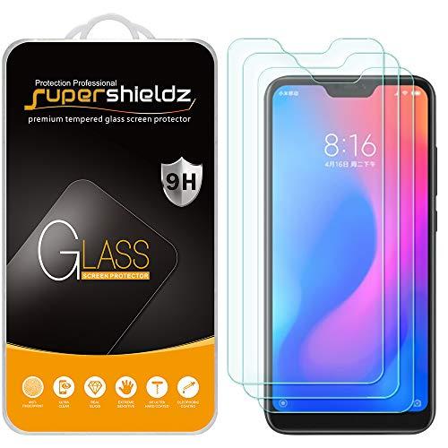 Supershieldz - Protector de pantalla de vidrio templado para Xiaomi Mi A2 Lite, antiarañazos, sin burbujas