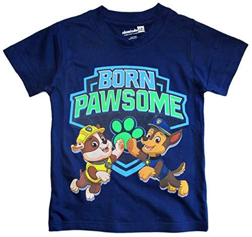 Paw Patrol - Helfer auf Vier Pfoten T-Shirt Jungen (Blau-Blue, 104-110)